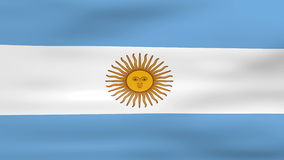 Waving Argentina Flag, ready for seamless loop royalty free illustration