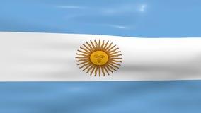 Waving Argentina Flag vector illustration
