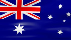 Waving Australia Flag, ready for seamless loop Stock Photos