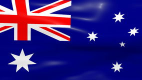 Waving Australia Flag Royalty Free Stock Images
