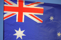 Waving Australian flag Stock Photography