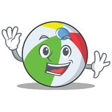Waving ball character cartoon style Royalty Free Stock Image