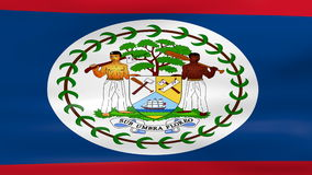 Waving Belize Flag, ready for seamless loop Stock Image