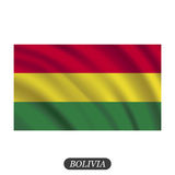 Waving Bolivia flag on a white background. Vector illustration Stock Photography