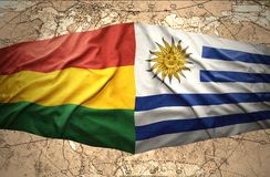 Bolivia and Uruguay Royalty Free Stock Images
