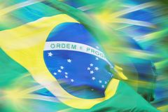 Waving brazilian flag Stock Photography
