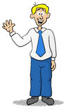 Waving business man Stock Images
