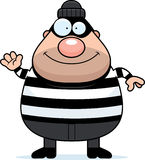 Waving Cartoon Burglar. A cartoon illustration of a burglar waving Stock Image