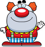 Waving Cartoon Clown Stock Image