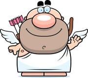 Waving Cartoon Cupid Stock Photography