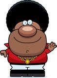 Waving Cartoon Disco Man Stock Images