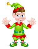 Waving Cartoon Elf Royalty Free Stock Photography
