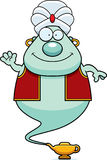 Waving Cartoon Genie Stock Photo