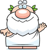Waving Cartoon Greek Philosopher Royalty Free Stock Image