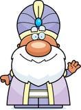 Waving Cartoon Maharaja Royalty Free Stock Photo
