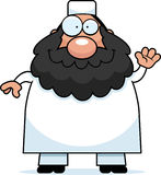Waving Cartoon Muslim Royalty Free Stock Photography