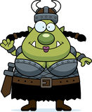 Waving Cartoon Orc Royalty Free Stock Photo
