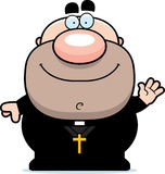 Waving Cartoon Priest Royalty Free Stock Photography