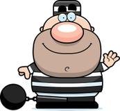 Waving Cartoon Prisoner Stock Images