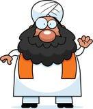 Waving Cartoon Sikh Stock Images