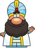 Waving Cartoon Sultan Royalty Free Stock Photos