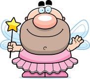 Waving Cartoon Tooth Fairy Stock Photography