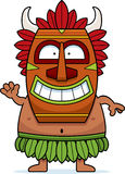 Waving Cartoon Witch Doctor. A cartoon illustration of a witch doctor waving Stock Image