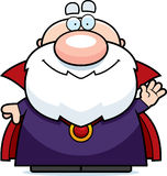 Waving Cartoon Wizard Royalty Free Stock Photo
