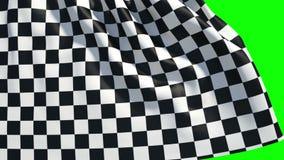 Waving checker finish flag stock footage