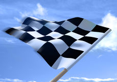 Waving a checkered flag Royalty Free Stock Photography