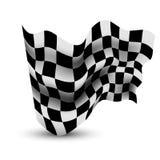 Waving Checkered Flag. Illustration Of Waving Checkered Flag Stock Photos