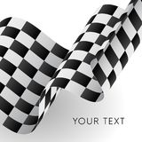 Waving checkered flag. Racing flag. Vector illustration. Waving checkered flag. Racing flag Royalty Free Stock Photography