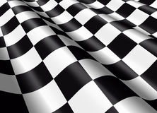 Waving chequered flag. Detail of a waving chequered flag Stock Images