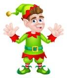 Waving Christmas Elf Royalty Free Stock Image