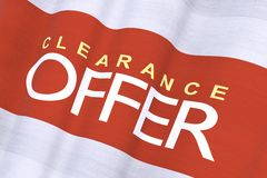 Waving Clearance Offer Stock Photos