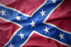 Waving colorful confederate flag. Navy jack Royalty Free Stock Photo
