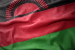 Waving colorful flag of malawi. Waving colorful national flag of malawi Stock Image