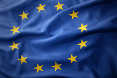 Free Waving Colorful Flag Of European Union. Stock Photography - 92534792