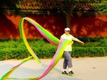 Waving Coloured ribbon Stock Photography