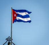Waving Cuban Flag. In Havana, Cuba Stock Images