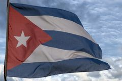 Waving cuba striped flag Royalty Free Stock Photo