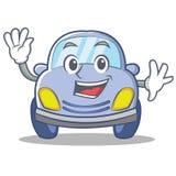 Waving cute car character cartoon Stock Photography