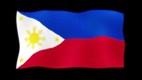 Waving 3d The National Flag of Republic of the Philippines royalty free illustration