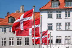 Waving Danish flag Royalty Free Stock Photo