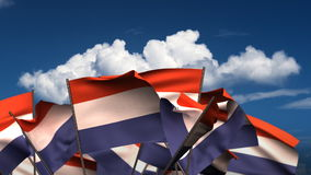 Waving Dutch Flags stock footage