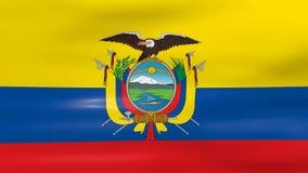 Waving Ecuador Flag, ready for seamless loop stock illustration