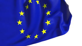 Waving Europe Union flag Stock Image