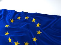 Waving europe union Flag Stock Photo