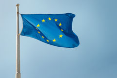 Waving European Union EU flag Royalty Free Stock Photo