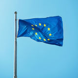 Waving Europian Union EU flag Royalty Free Stock Photos
